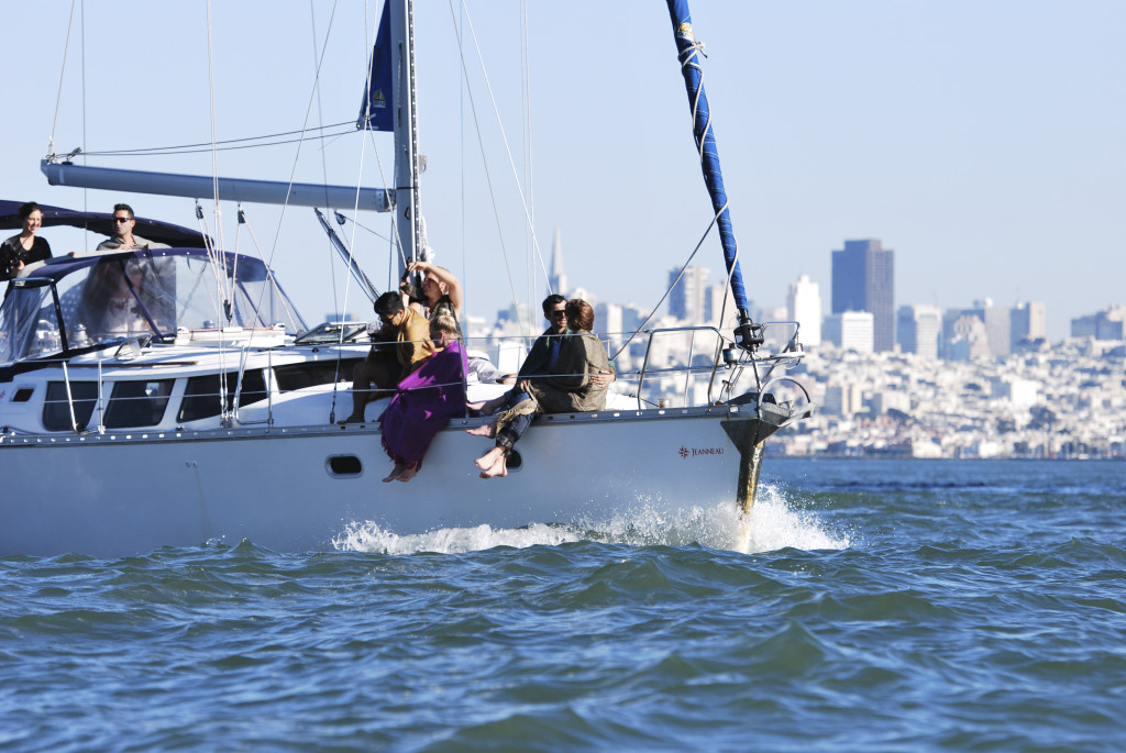 Sailing charter cruise from sausalito to sf under the golden gate bridge and around alcatraz