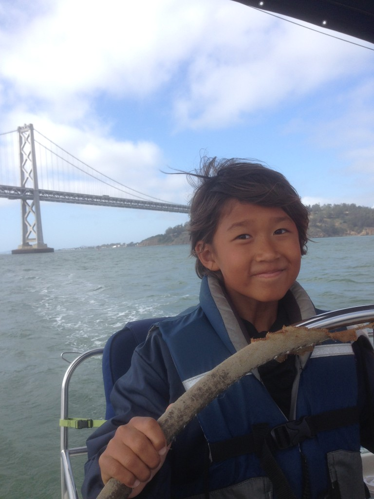 Kid Captain San Francisco Bay Golden Gate Bridge Sailing