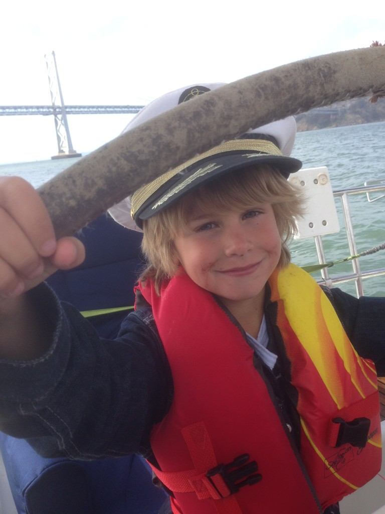 Naval Officer Kid Sailing San Francisco Bay Golden Gate Bridge