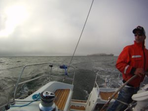 foggy day for sailing on sf bay