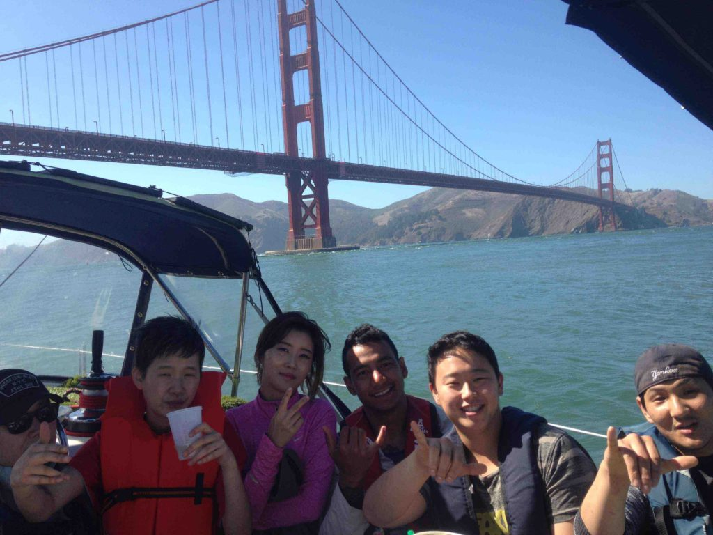 private sailing charter action in sf bay