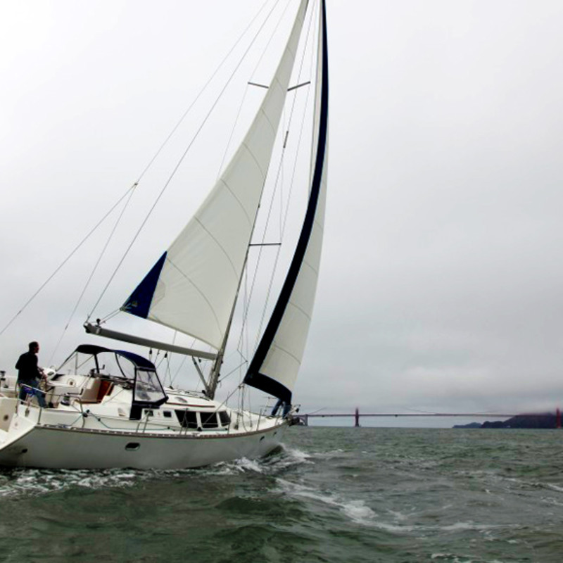 new photo shoot during a private sailing charter on sf bay san francisco