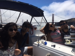 today arjun and his guests came out sailing with captain josh waldman on the 4th of july and we had a great yacht cruise in sf bay