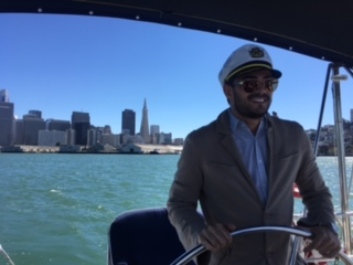 took a group of brazilians out sailing for a private charter on sf bay
