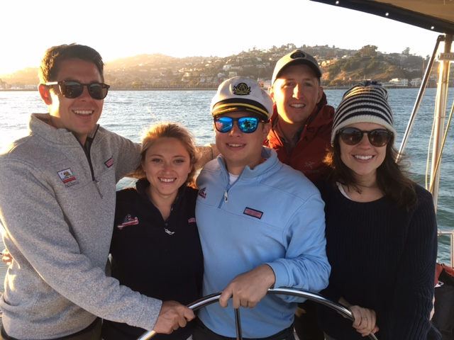 Yesterday captain josh waldman took johnathan and his friends out on the sailboat for a private charter in san francisco bay and we played music and enjoyed the stunning sf views of sausalito tiburon angel island golden gate bridge and alcatraz.